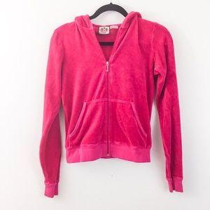 Girls Juicy Couture Pink Velour Hoodie Jacket
